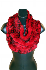 Knitted Rex Infinity Scarf