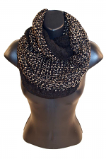 Infinity Scarf With Sequins