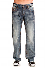 Mens Chopper Straight Leg Jeans