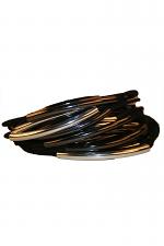 Mixed Iridium/Silver Multi Tube Bracelet