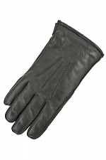 Mens Glove with Gauge Points in Black