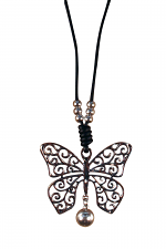 Cord Necklace With Butterfly