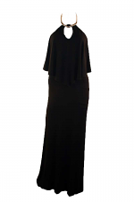 Maxi Dress With Attached Necklace