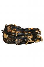 Gold Nuggets and Crystal Bracelet