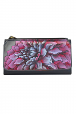 Dreamy Dahlias Pink Organizer Wallet-Clutch