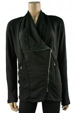 Side Zip Jacket in Black