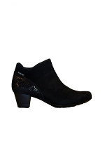 Low Heel Side Zip in Black
