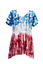 Americana Open Shoulder Tunic