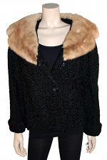 Mongolian Lamb W/ Mink Collar