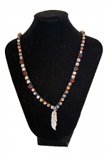 String Beads With Feathers