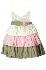 Girls Bubble Tiered Dress
