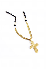 Saffron Necklace (black/gold)