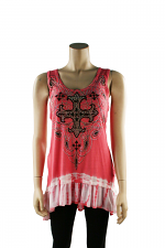 Coral Top Sleeveless
