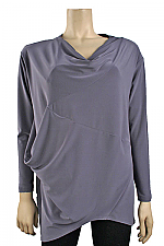 Long Sleeve Affinity Top in Titanium