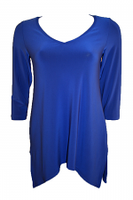 3/4 Sleeve Go To Wide V-Neck T Relax