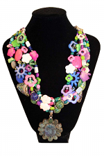 Fiesta Del Rey- 5 Strand Necklace