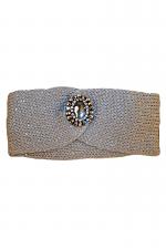 Turban Headband With Crystal Pendant