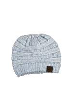 Knitted Metallic Beanie