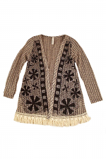 Kids Cardigan With Print And Stones