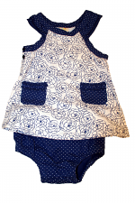 Girls 2PC Dress With Bloomer