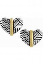 Acoma Heart Post Earring