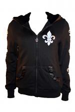 Hood Jacket With Fleur De Lis