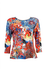 3/4 Sleeve Orion Print Top