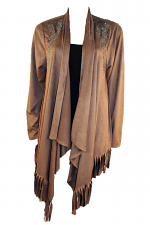 Fringe Cardigan With Stones