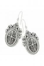 Devotion Truthful Cross French Wire Earrings