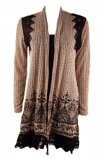 Cardigan With Crochet Lace