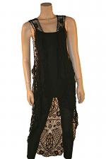 Crochet High Low Vest in Black