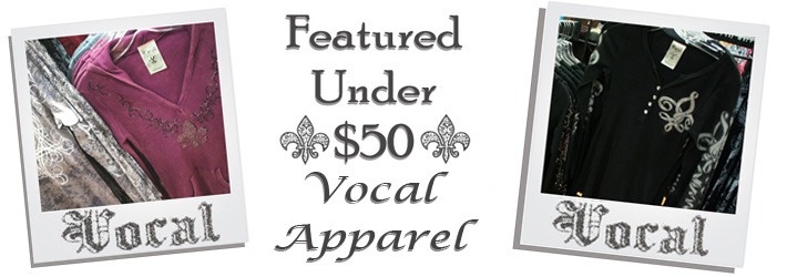 Sidestreet Boutique carries a wide selection of Vocal Brand Clothing for women.